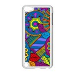 Pop Art Paisley Flowers Ornaments Multicolored Apple iPod Touch 5 Case (White) Front