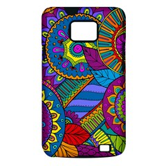 Pop Art Paisley Flowers Ornaments Multicolored Samsung Galaxy S II i9100 Hardshell Case (PC+Silicone)