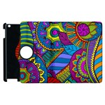Pop Art Paisley Flowers Ornaments Multicolored Apple iPad 2 Flip 360 Case Front
