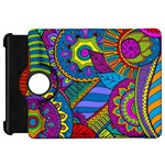 Pop Art Paisley Flowers Ornaments Multicolored Kindle Fire HD Flip 360 Case Front
