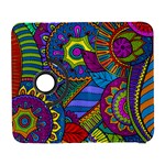 Pop Art Paisley Flowers Ornaments Multicolored Samsung Galaxy S  III Flip 360 Case Front
