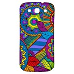 Pop Art Paisley Flowers Ornaments Multicolored Samsung Galaxy S3 S III Classic Hardshell Back Case Front