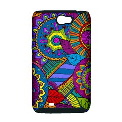 Pop Art Paisley Flowers Ornaments Multicolored Samsung Galaxy Note 2 Hardshell Case (PC+Silicone)