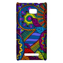 Pop Art Paisley Flowers Ornaments Multicolored HTC 8X