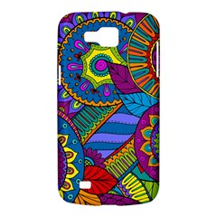 Pop Art Paisley Flowers Ornaments Multicolored Samsung Galaxy Premier I9260 Hardshell Case