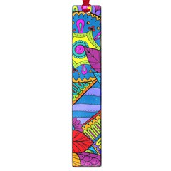 Pop Art Paisley Flowers Ornaments Multicolored Large Book Marks