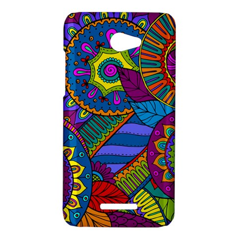 Pop Art Paisley Flowers Ornaments Multicolored HTC Butterfly X920E Hardshell Case