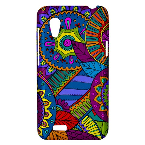 Pop Art Paisley Flowers Ornaments Multicolored HTC Desire VT (T328T) Hardshell Case