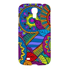 Pop Art Paisley Flowers Ornaments Multicolored Samsung Galaxy S4 I9500/I9505 Hardshell Case