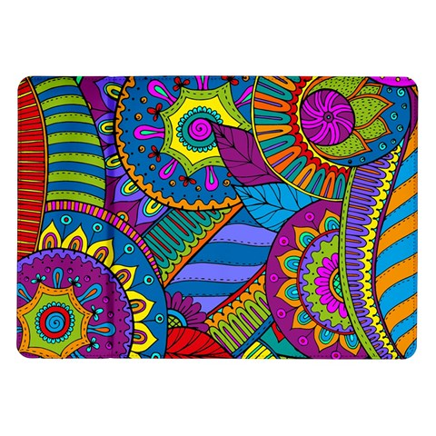 Pop Art Paisley Flowers Ornaments Multicolored Samsung Galaxy Tab 10.1  P7500 Flip Case