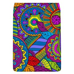 Pop Art Paisley Flowers Ornaments Multicolored Flap Covers (l)
