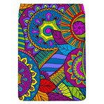 Pop Art Paisley Flowers Ornaments Multicolored Flap Covers (L)  Front