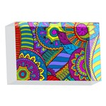Pop Art Paisley Flowers Ornaments Multicolored 4 x 6  Acrylic Photo Blocks Front