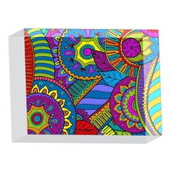 Pop Art Paisley Flowers Ornaments Multicolored 5 x 7  Acrylic Photo Blocks
