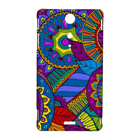Pop Art Paisley Flowers Ornaments Multicolored Sony Xperia TX