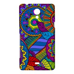 Pop Art Paisley Flowers Ornaments Multicolored Sony Xperia T
