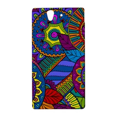 Pop Art Paisley Flowers Ornaments Multicolored Sony Xperia Z