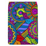 Pop Art Paisley Flowers Ornaments Multicolored Flap Covers (S)  Front