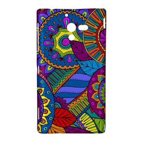 Pop Art Paisley Flowers Ornaments Multicolored Sony Xperia ZL (L35H)