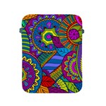 Pop Art Paisley Flowers Ornaments Multicolored Apple iPad 2/3/4 Protective Soft Cases Front