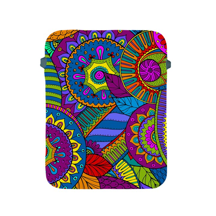 Pop Art Paisley Flowers Ornaments Multicolored Apple iPad 2/3/4 Protective Soft Cases