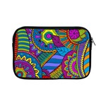 Pop Art Paisley Flowers Ornaments Multicolored Apple iPad Mini Zipper Cases Front