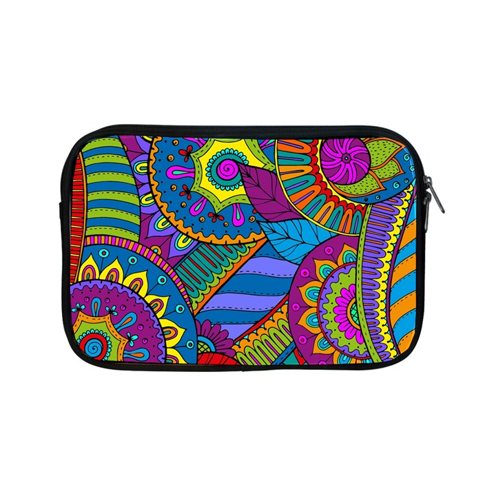 Pop Art Paisley Flowers Ornaments Multicolored Apple iPad Mini Zipper Cases