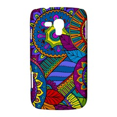 Pop Art Paisley Flowers Ornaments Multicolored Samsung Galaxy Duos I8262 Hardshell Case