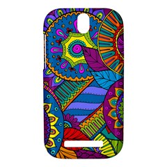 Pop Art Paisley Flowers Ornaments Multicolored HTC One SV Hardshell Case
