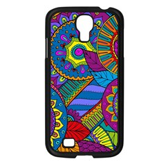 Pop Art Paisley Flowers Ornaments Multicolored Samsung Galaxy S4 I9500/ I9505 Case (black)