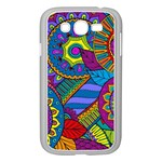 Pop Art Paisley Flowers Ornaments Multicolored Samsung Galaxy Grand DUOS I9082 Case (White) Front