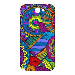 Pop Art Paisley Flowers Ornaments Multicolored Samsung Note 2 N7100 Hardshell Back Case