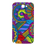 Pop Art Paisley Flowers Ornaments Multicolored Samsung Note 2 N7100 Hardshell Back Case Front