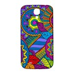 Pop Art Paisley Flowers Ornaments Multicolored Samsung Galaxy S4 I9500/I9505  Hardshell Back Case Front