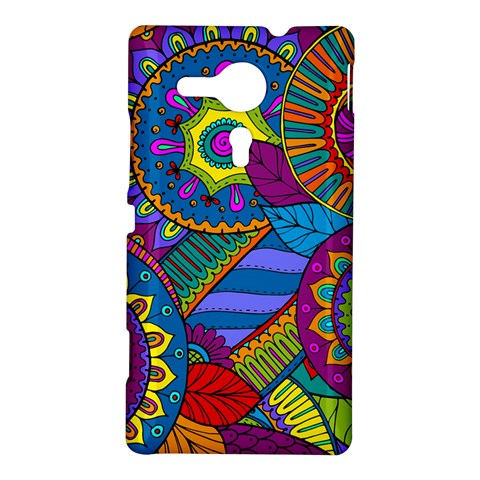 Pop Art Paisley Flowers Ornaments Multicolored Sony Xperia SP