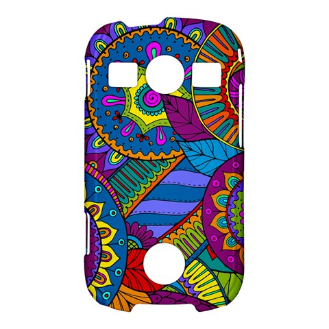 Pop Art Paisley Flowers Ornaments Multicolored Samsung Galaxy S7710 Xcover 2 Hardshell Case