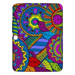 Pop Art Paisley Flowers Ornaments Multicolored Samsung Galaxy Tab 3 (10 1 ) P5200 Hardshell Case