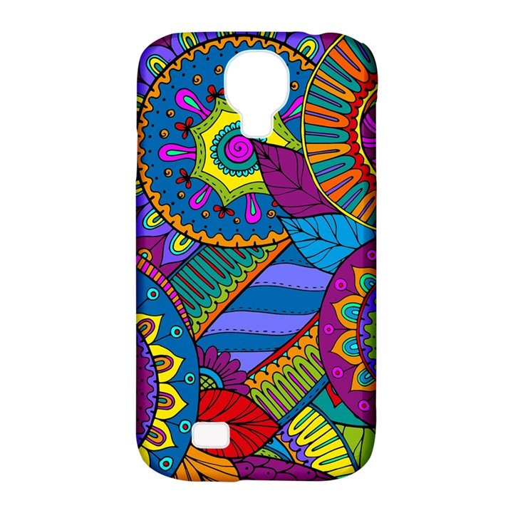 Pop Art Paisley Flowers Ornaments Multicolored Samsung Galaxy S4 Classic Hardshell Case (PC+Silicone)