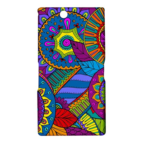 Pop Art Paisley Flowers Ornaments Multicolored Sony Xperia Z Ultra