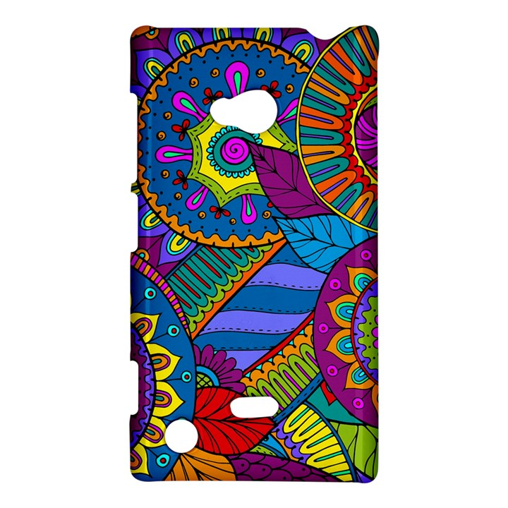 Pop Art Paisley Flowers Ornaments Multicolored Nokia Lumia 720