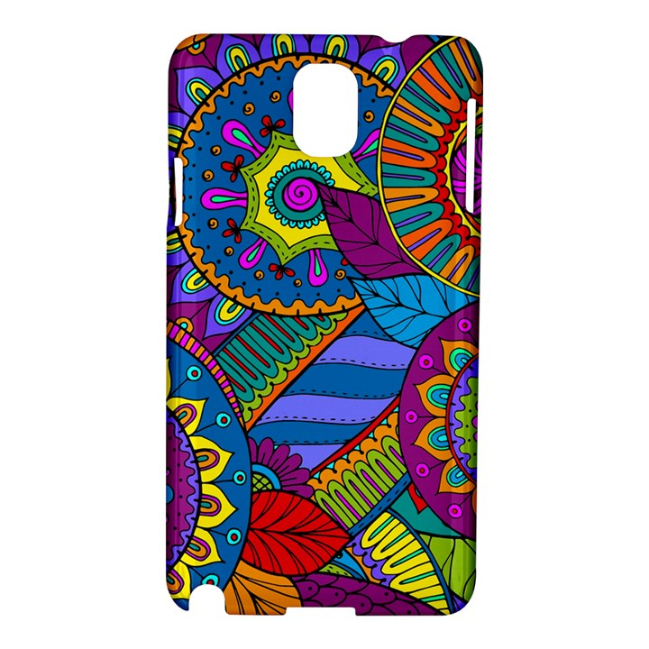 Pop Art Paisley Flowers Ornaments Multicolored Samsung Galaxy Note 3 N9005 Hardshell Case