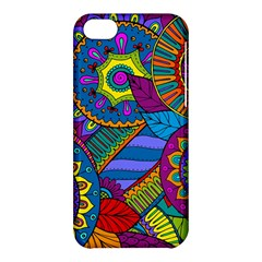 Pop Art Paisley Flowers Ornaments Multicolored Apple iPhone 5C Hardshell Case