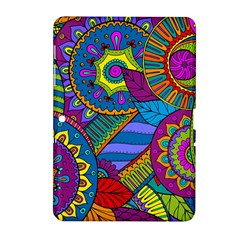 Pop Art Paisley Flowers Ornaments Multicolored Samsung Galaxy Tab 2 (10 1 ) P5100 Hardshell Case
