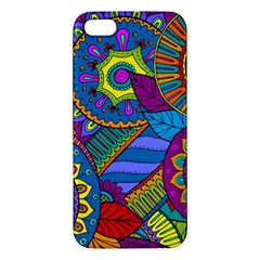 Pop Art Paisley Flowers Ornaments Multicolored iPhone 5S/ SE Premium Hardshell Case