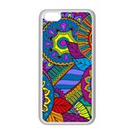Pop Art Paisley Flowers Ornaments Multicolored Apple iPhone 5C Seamless Case (White) Front