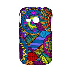 Pop Art Paisley Flowers Ornaments Multicolored Samsung Galaxy S6310 Hardshell Case