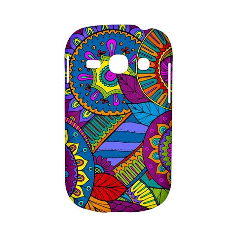 Pop Art Paisley Flowers Ornaments Multicolored Samsung Galaxy S6810 Hardshell Case