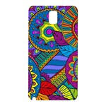 Pop Art Paisley Flowers Ornaments Multicolored Samsung Galaxy Note 3 N9005 Hardshell Back Case Front