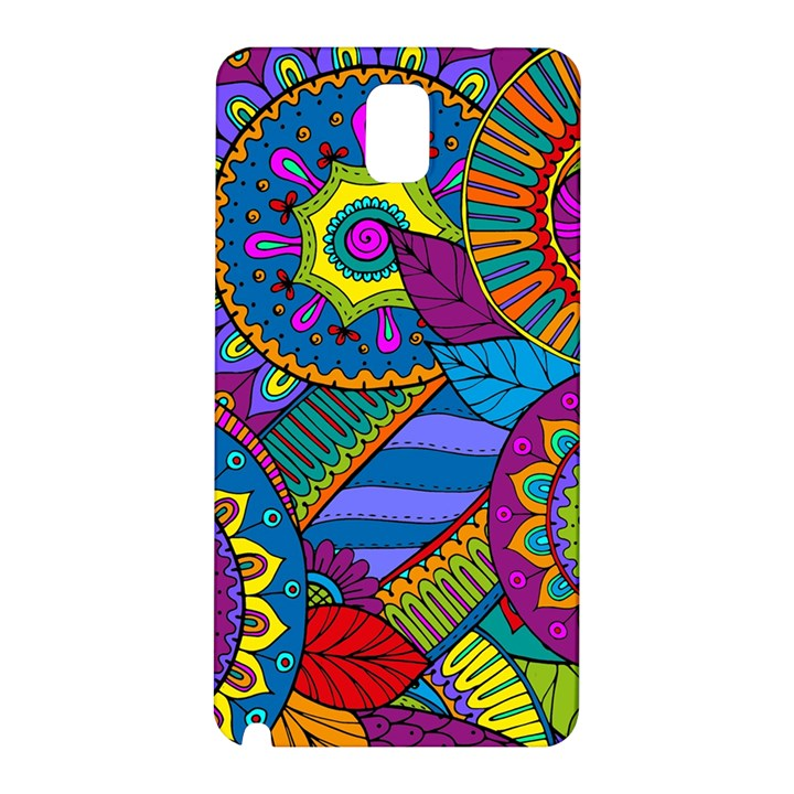 Pop Art Paisley Flowers Ornaments Multicolored Samsung Galaxy Note 3 N9005 Hardshell Back Case
