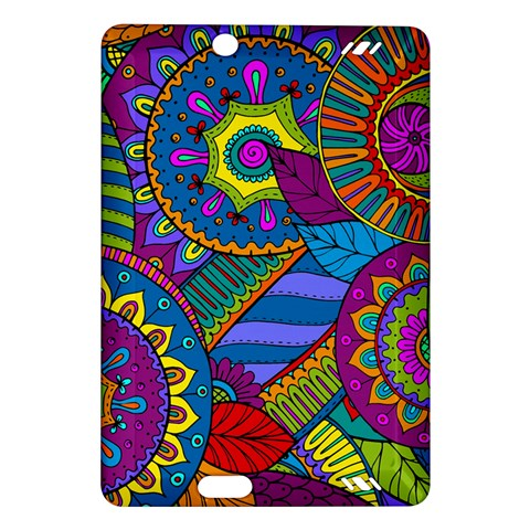 Pop Art Paisley Flowers Ornaments Multicolored Amazon Kindle Fire HD (2013) Hardshell Case